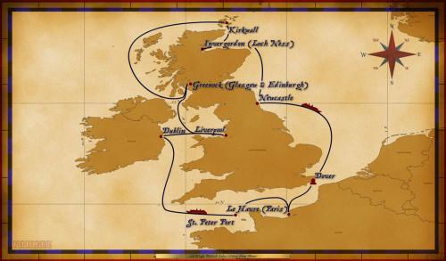 Map Magic 12 Night British Isles Itinerary 2017