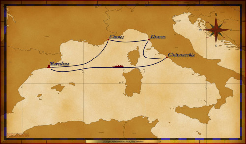 Map Magic 5 Night Mediterranean Cruise