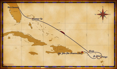 Map Magic 6 Night Eastern Caribbean Repo Itinerary
