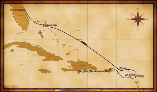 Map Magic 6 Night Eastern Caribbean Repo Itinerary