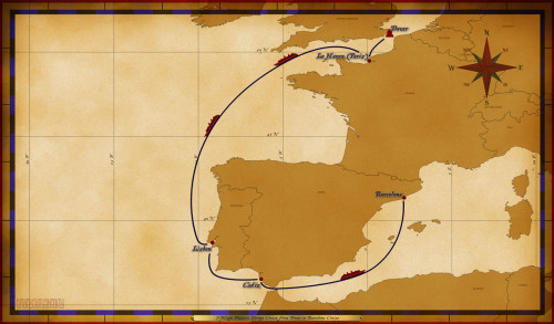 Map Magic 7 Night Western European Repo Itinerary
