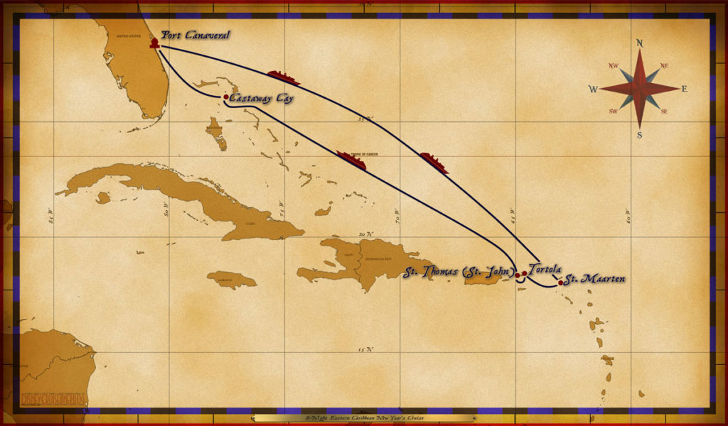 Map Magic 8 Night Eastern Caribbean New Year Cruise
