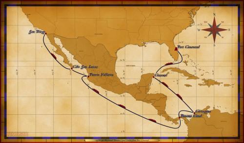 Map Wonder 15 Night Westbound Panama Canal Cruise 2017