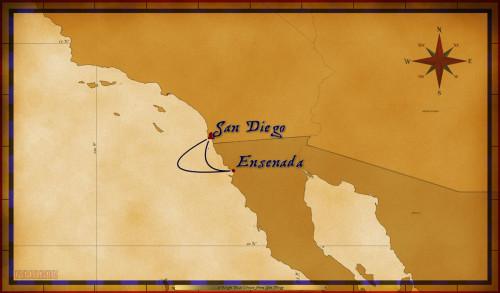 Map Wonder 2 Night Baja Cruise