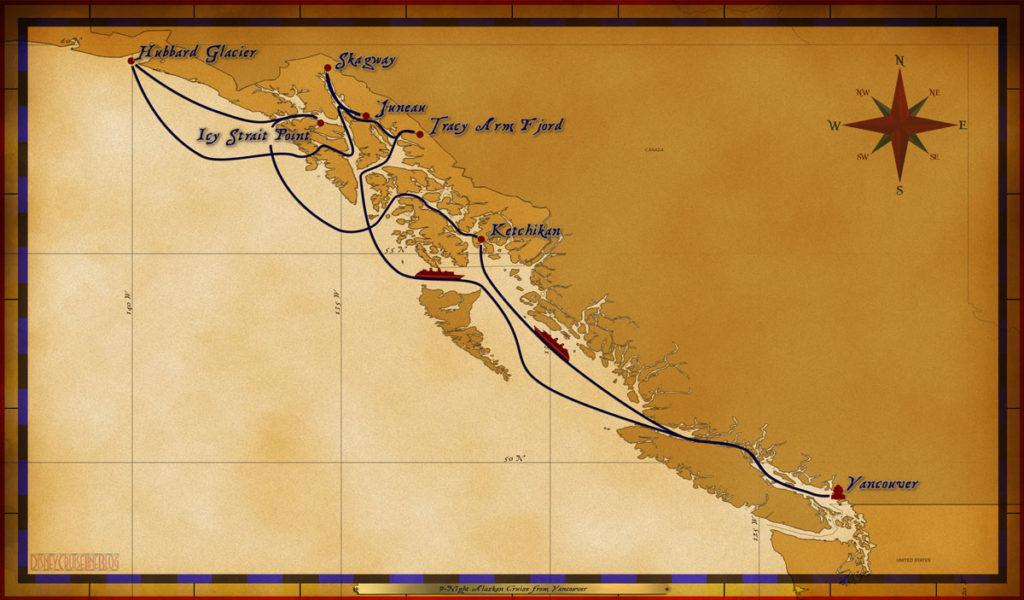 Map Wonder 9 Night Alaskan 2017