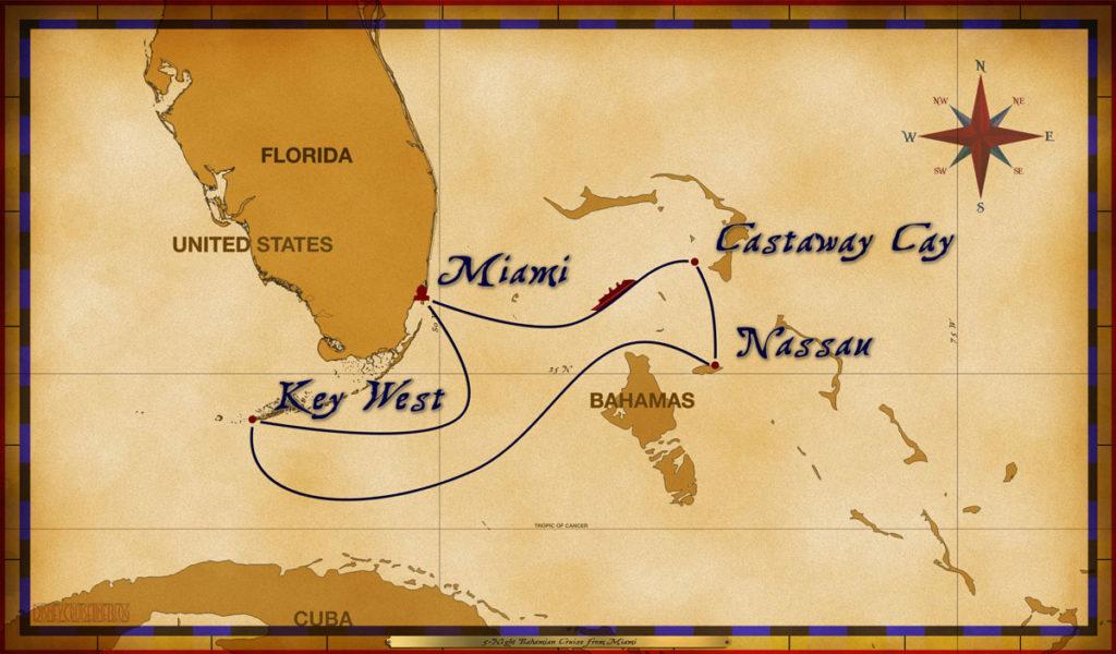 Map Magic 5 Night Bahamian Cruise
