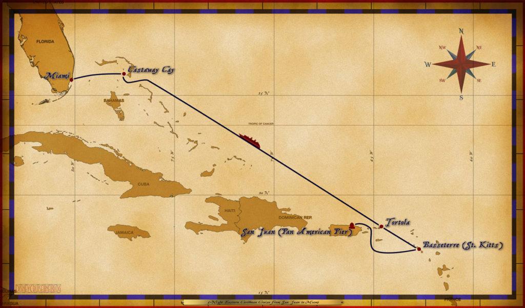 Map Magic 5 Night Eastern San Juan To Miami