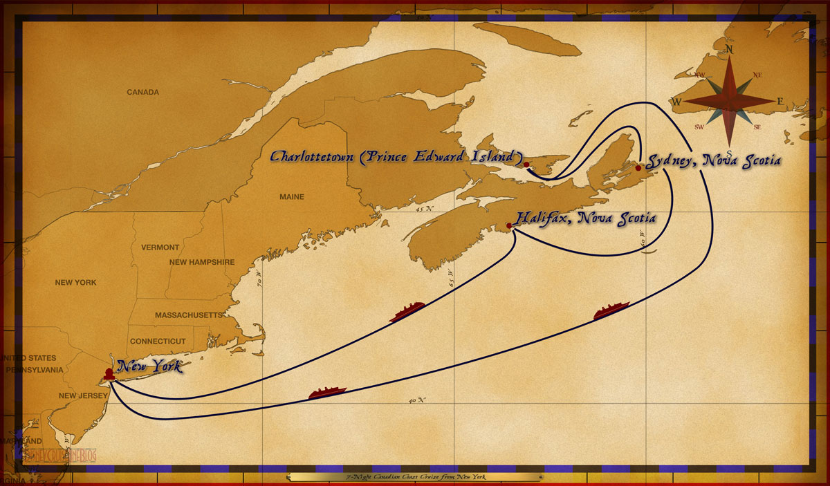 Marvel Map Of New York.Personal Navigators 7 Night Canadian Marvel Cruise From New York
