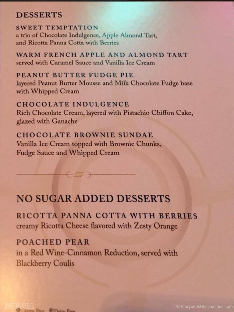 Season Dessert Menu Magic June 2016