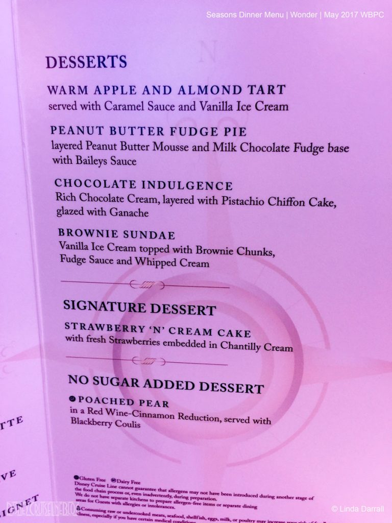 Seasons Dessert Menu Wonder May 2017