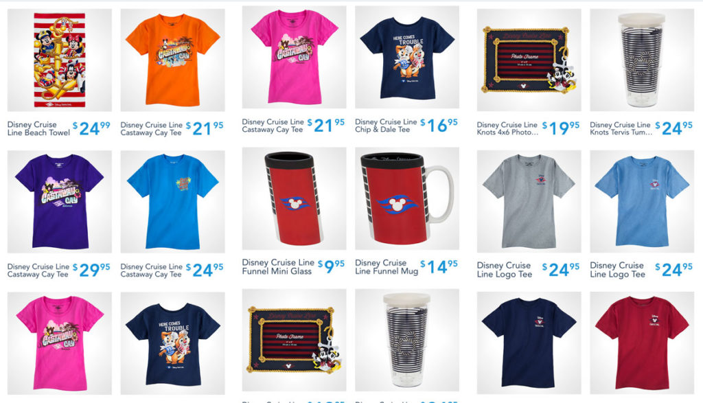 Shop Disney Parks DCL Merch 2