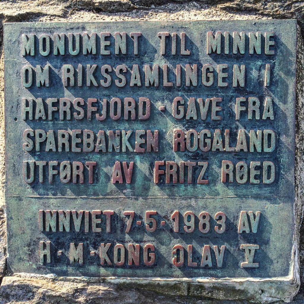 Sword In The Rocks Plaque Stavanger Norway