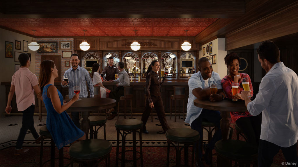 After Hours English Pub Disney Wonder Rendering