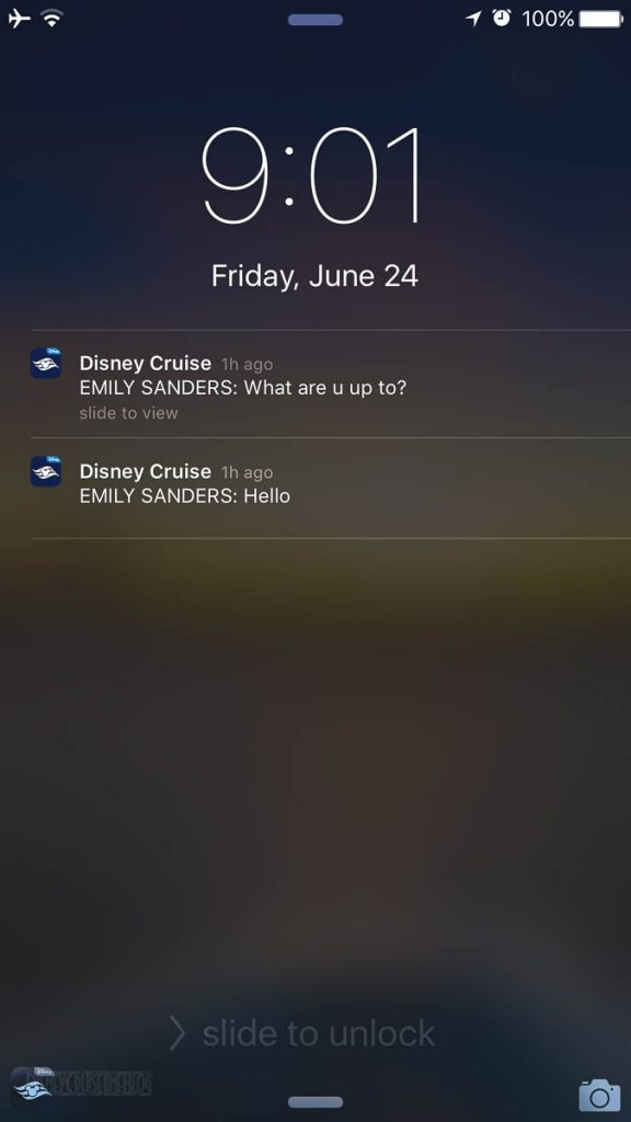 DCL Navigator App Chat Notifications