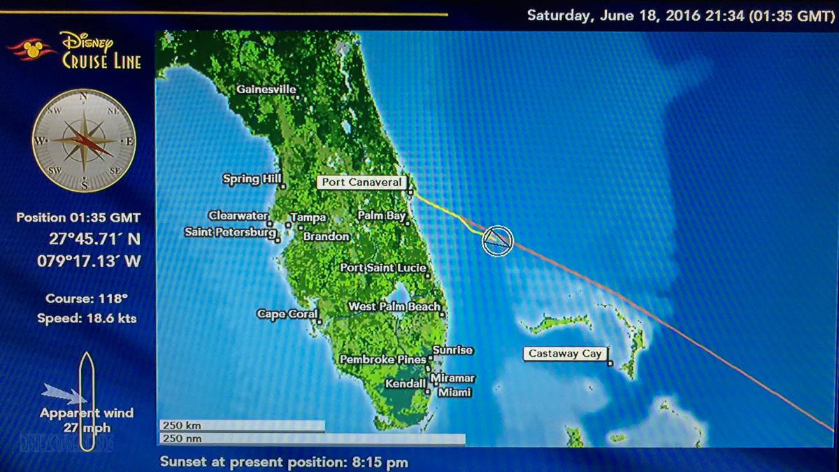 Trip Log Day 1: 7-Night Eastern Caribbean Cruise on Disney Fantasy Disney Dream Ship Map on