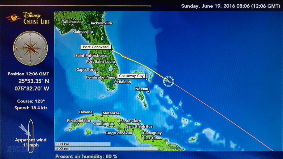 Disney Fantasy Day 1 2016 06 19 Map