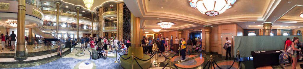 Disney Fantasy Debarkation Line Atrium