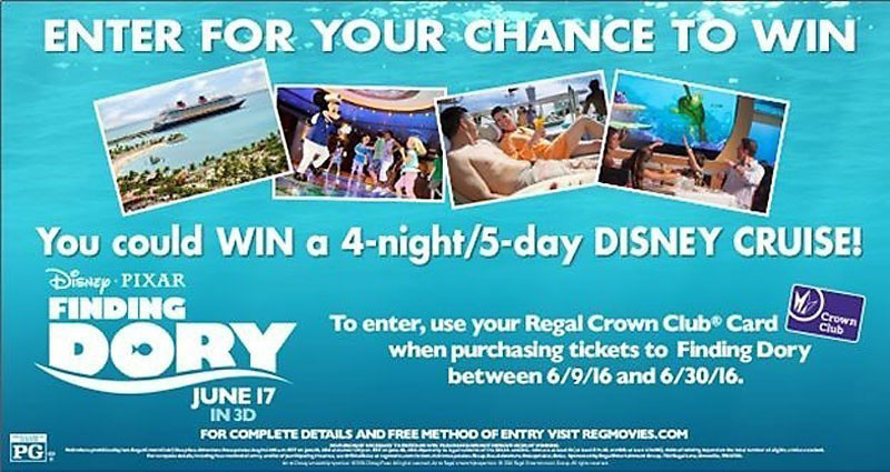 Regal Finding Dory Deep Sea Adventure Sweepstakes