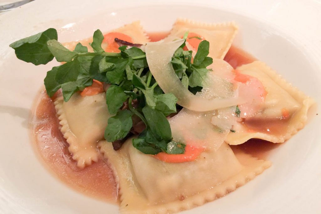 Royal Court Wild Mushroom Stuffed Pasta In A Vegetable Broth