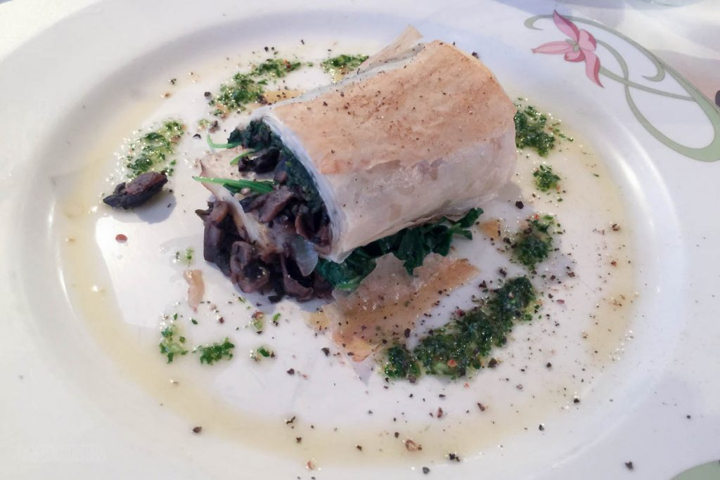 Sea Ya Real Soon Wild Mushroom And Sweet Onion Strudel
