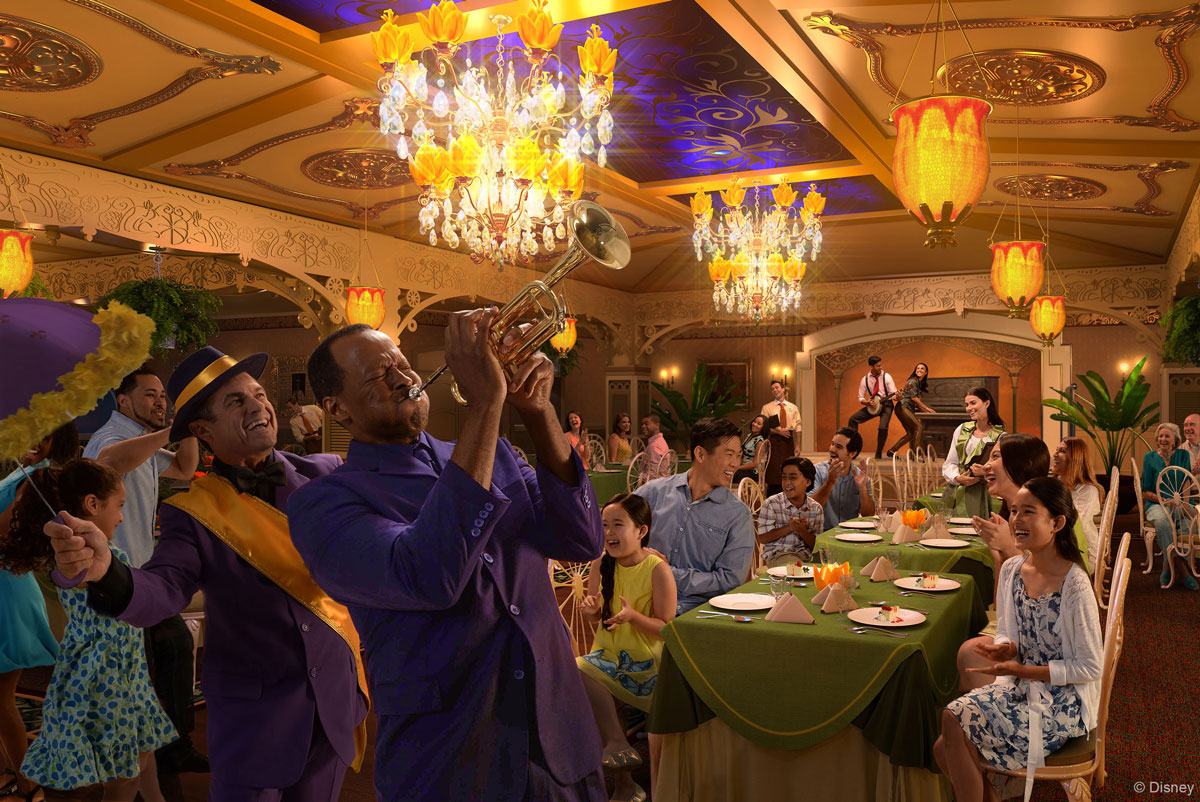 Tiana's Place Disney Wonder Rendering