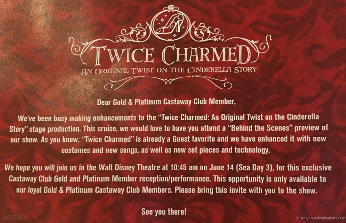 Twice Charmed Preview Invitation Disney Magic