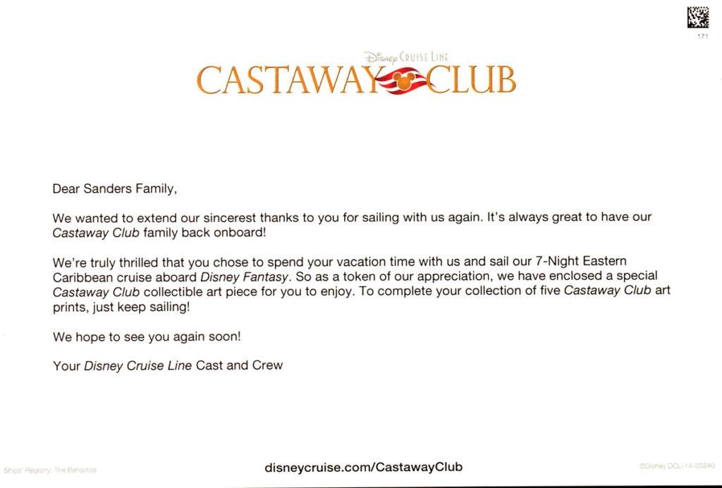 Castaway Club ARTCRD Insert