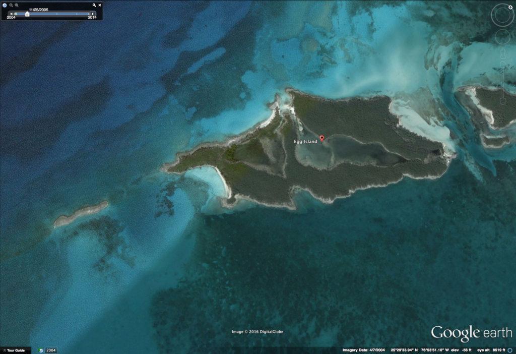 Egg Island Google Earth April 2004