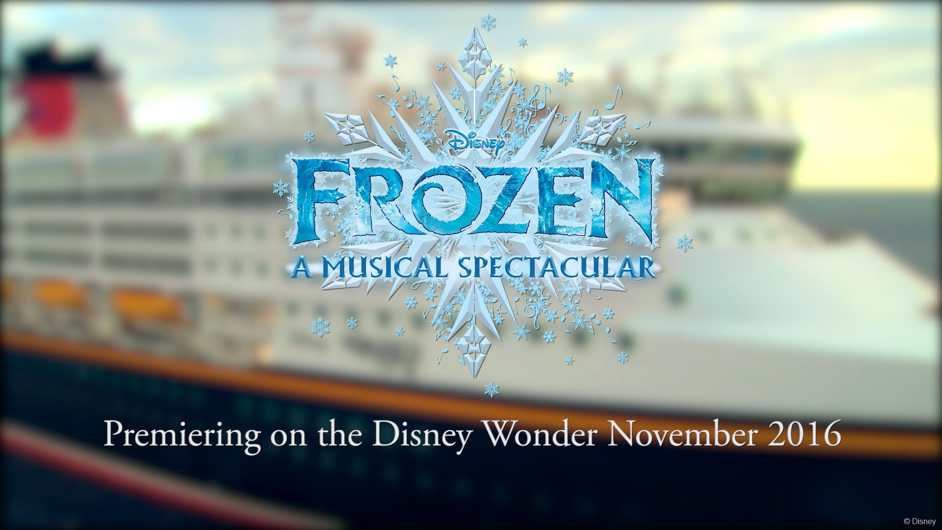 DW Frozen A Musical Spectacular Title Treatment
