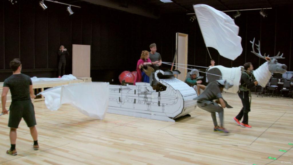 DW Frozen Anna Kristoff Sven Rehearsal
