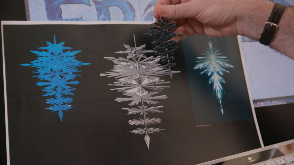 DW Frozen Ice Palace Chandelier Concept