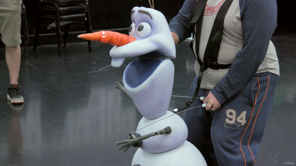 DW Frozen Olaf Rehearsal