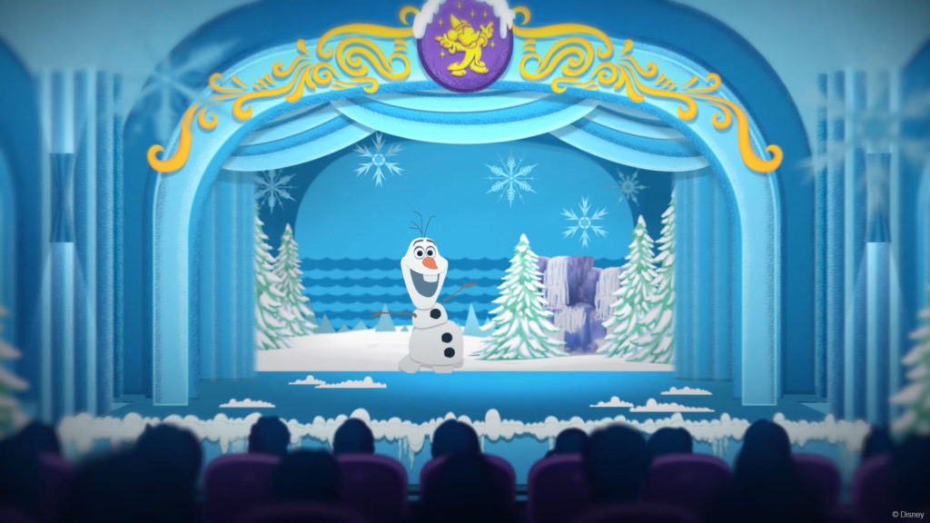 DW Frozen Olaf Teaser Stage Concept