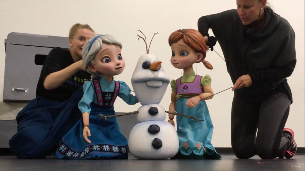 Frozen Young Anna Elsa Olaf Puppets