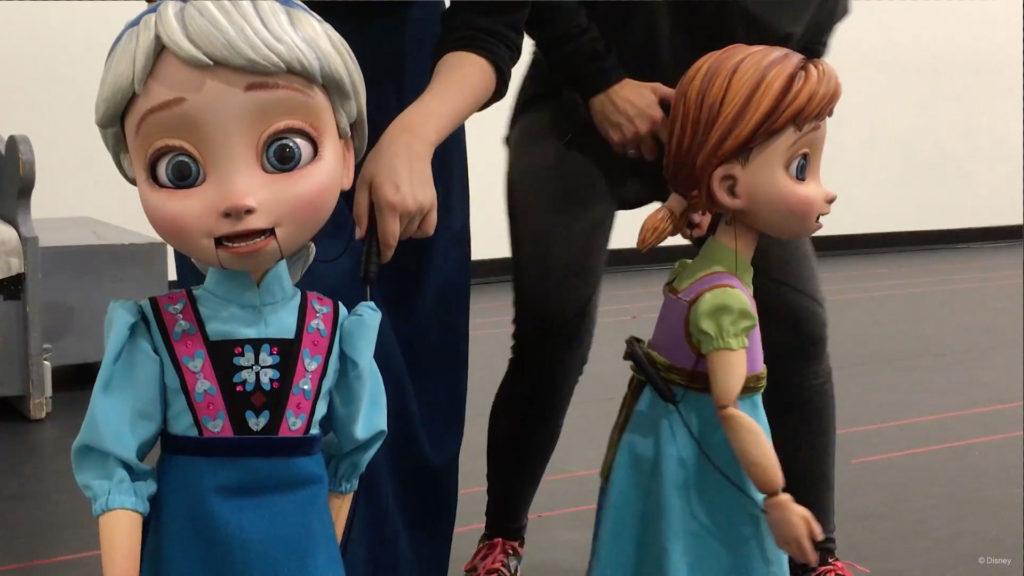 Frozen Young Anna Elsa Puppets