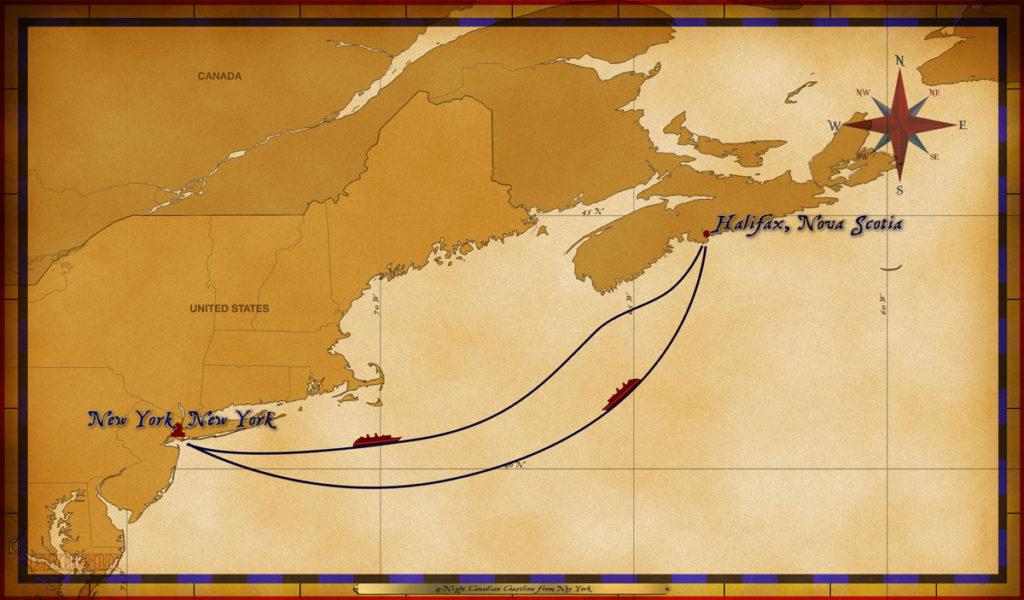 Map Magic 4 Night Canadian Coast New York