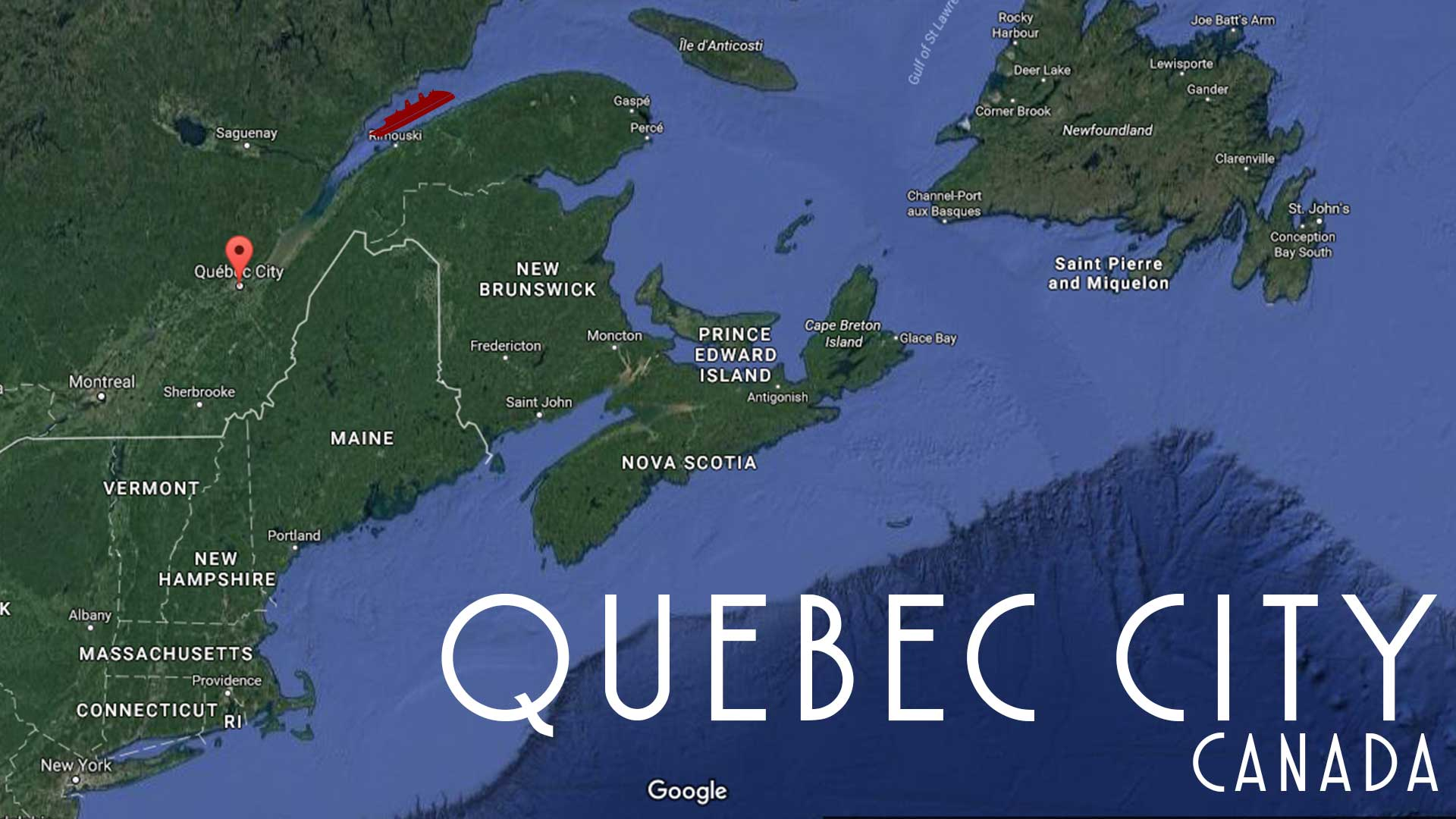 Map Quebec Canada Satellite