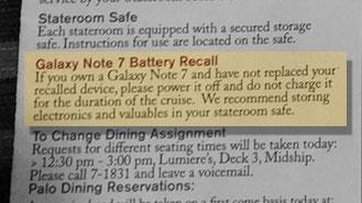 Navigator Galaxy Note 7 Notice