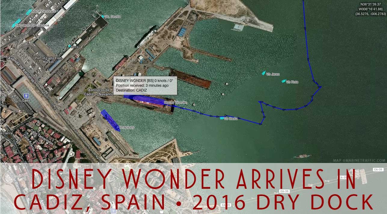 Wonder Dry Dock Cadiz Arrival