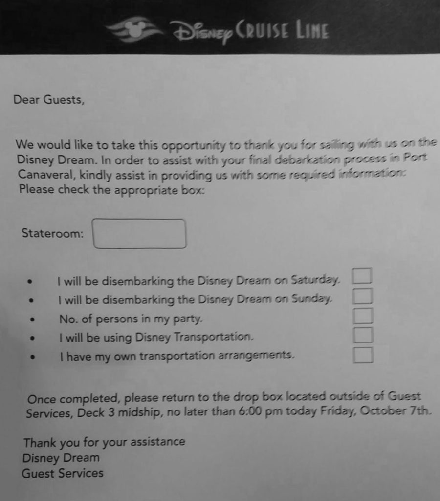DCL Dream Matthew Debark Options Questionaire