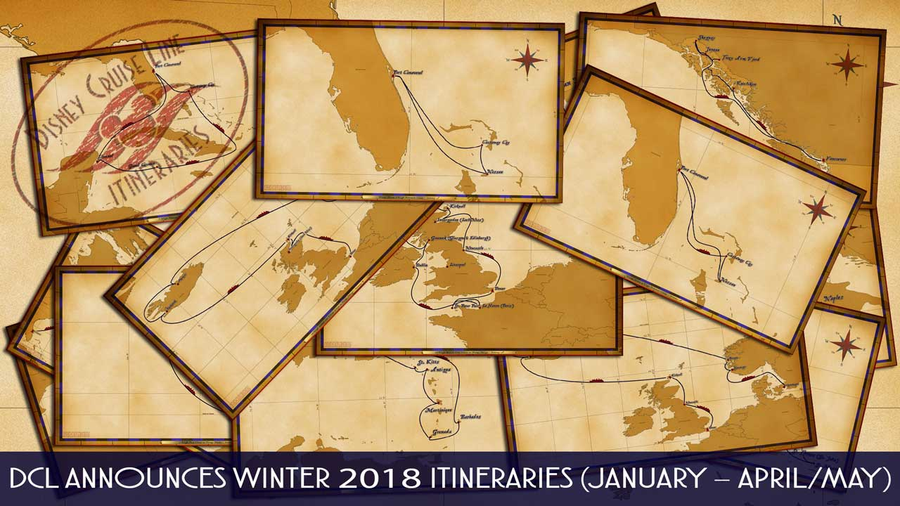 DCL Itinerary Release Winter 2018