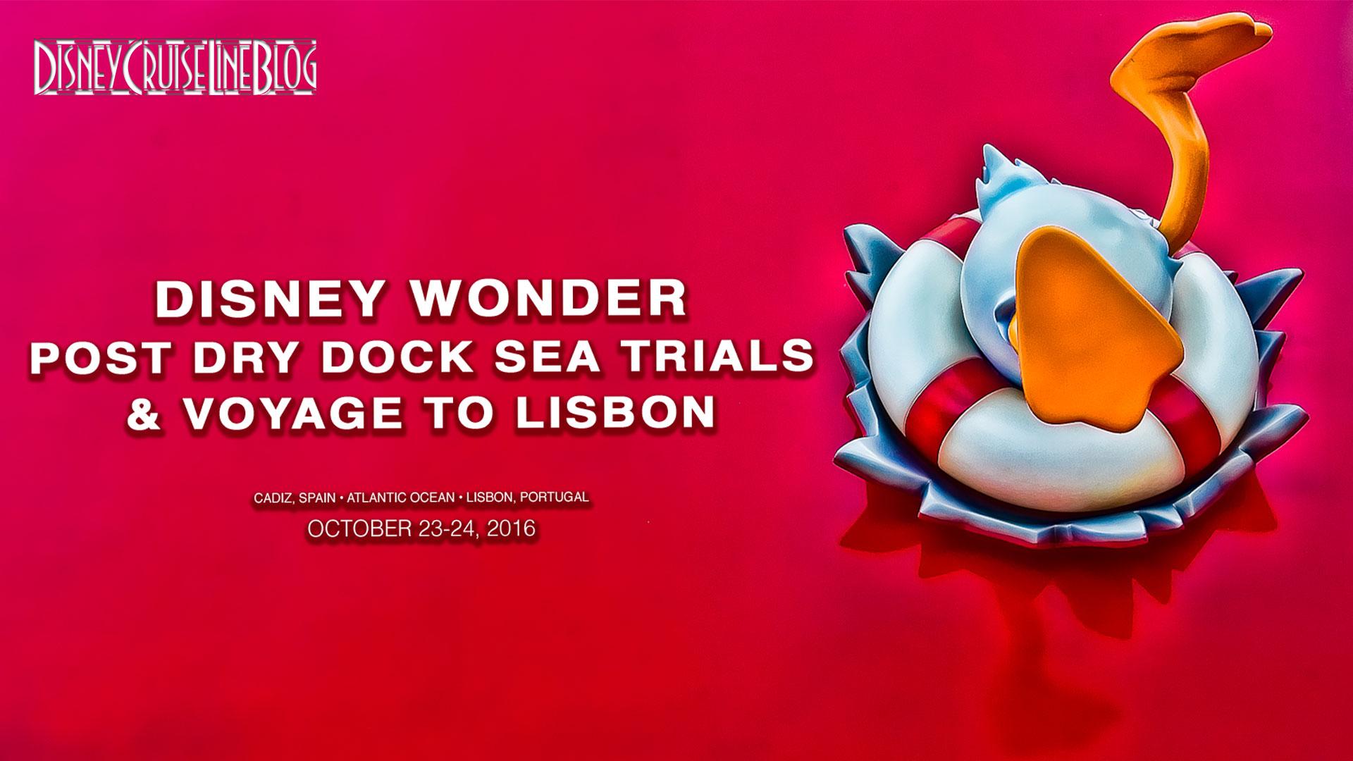 Disney Wonder Departs Cadiz Sea Trials