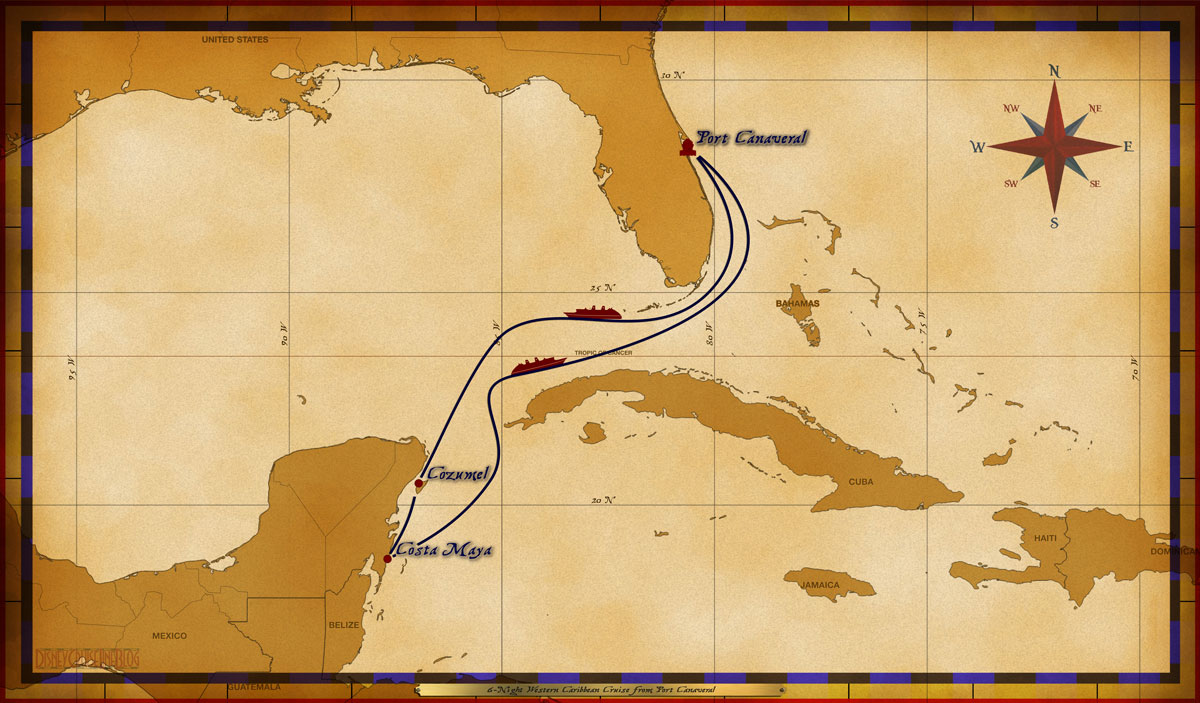 Map Dream 6 Night Western Caribbean