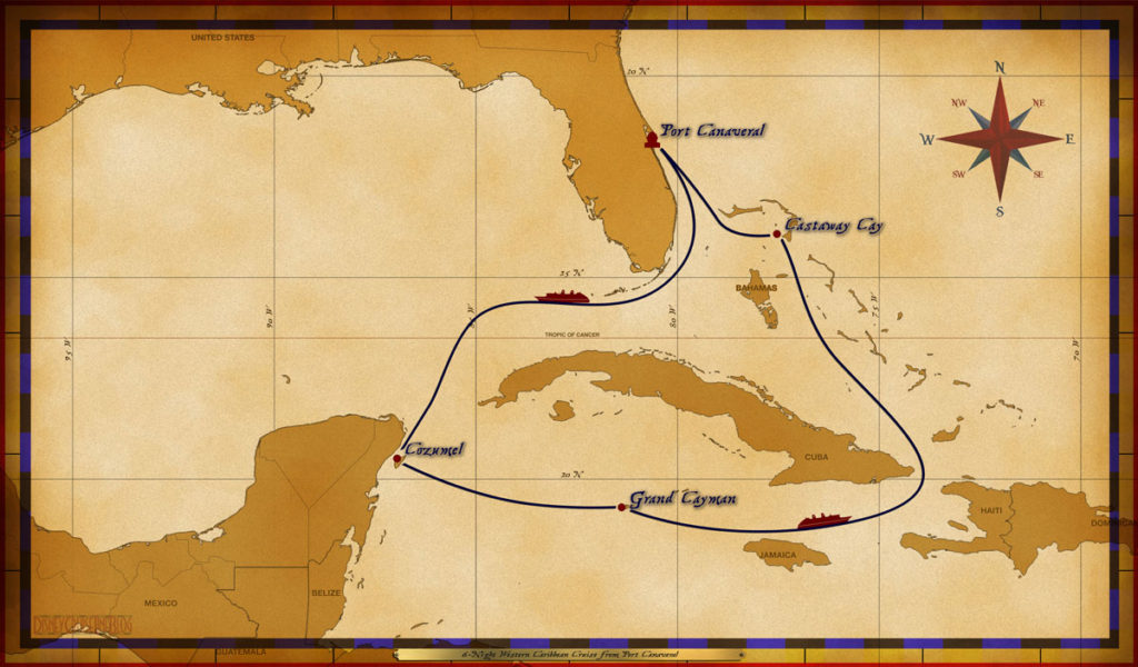 Map Fantasy 6 Night Western Caribbean
