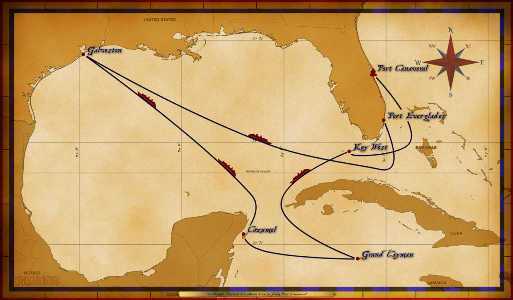 Map Magic 10 Night Western Caribbean Cruise