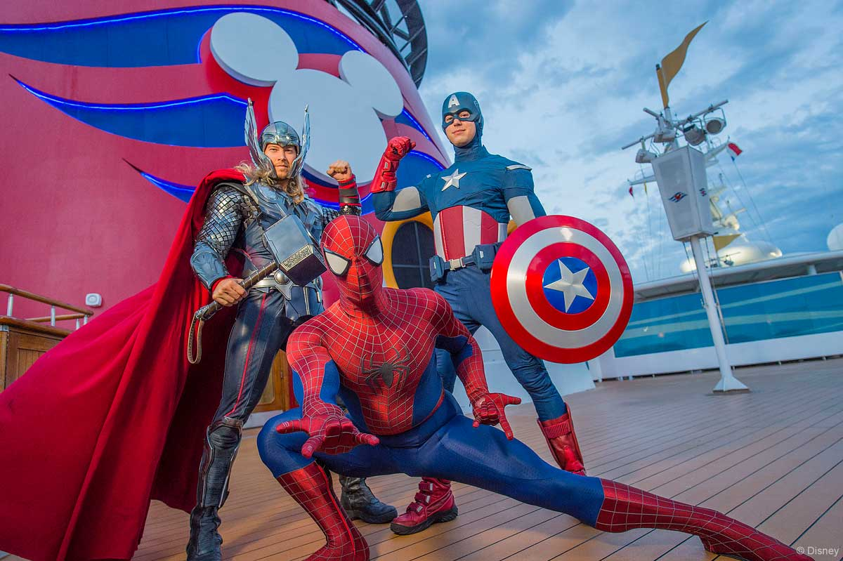 Marvel Day At Sea Thor Spiderman Captain America