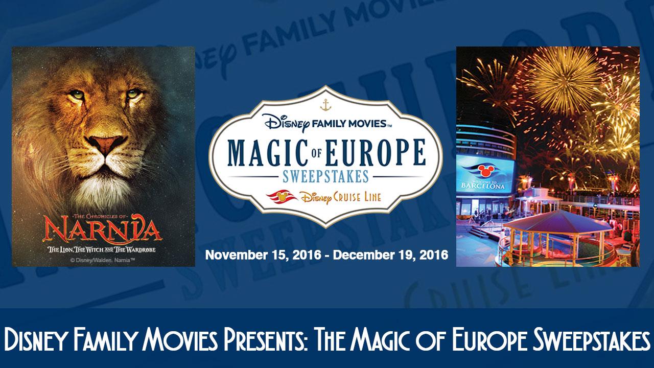 Disney Family Movies Magic Of Europe Sweeptakes 2016