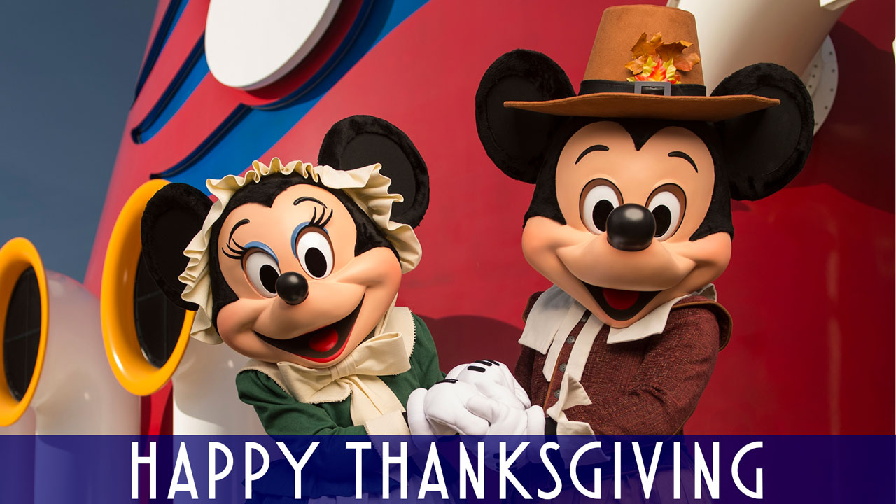 Happy Thanksgiving Mickey Minnie Pilgrim Funnel