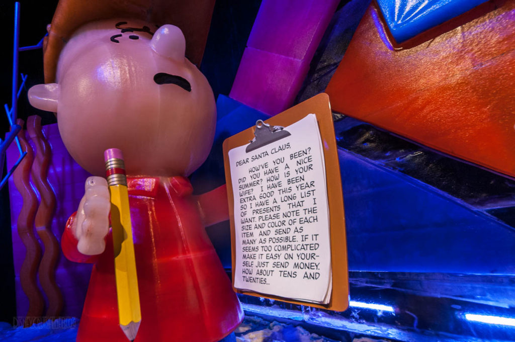 Gaylord Palms ICE Peanuts 2016 Linus' Letter To Santa