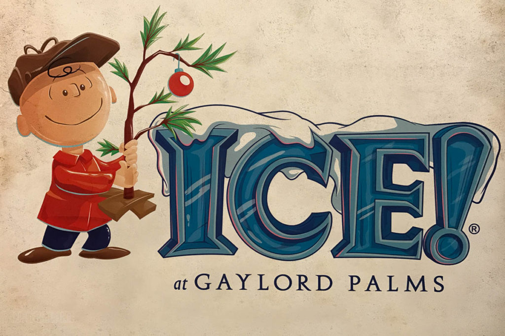 Gaylord Palms ICE Peanuts 2016 Logo